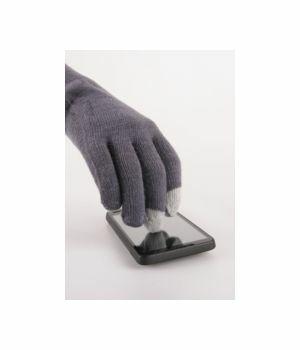 Midden-grijze iGloves Touchscreen handschoenen met Etip vingertoppen