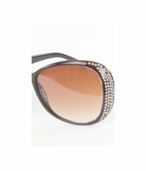 Trendy bruine zonnebril met strass