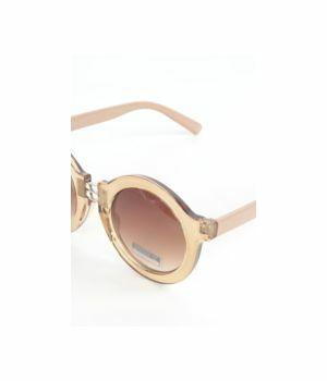 Hippe bruine ronde retro zonnebril met kleurverloop