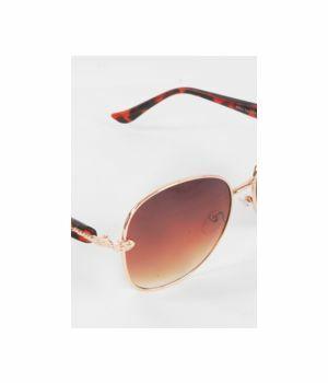 Pilotenmodel zonnebril met gouden frame, turtle pootjes