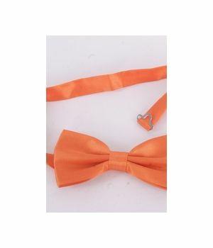 Oranje satijnen vlinderstrik