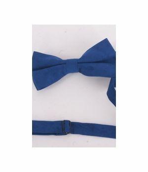 Kobaltblauwe suedine vlinderstrik