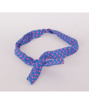 Kobalt blauwe polka dot haarband