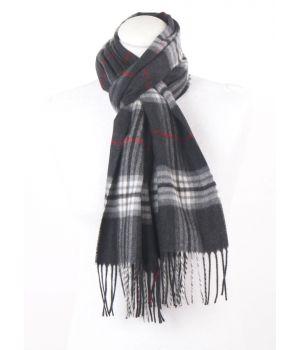 Antraciet grijze ultra zachte sjaal met ruiten