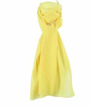 Licht gele crêpe voile sjaal
