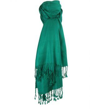 Zeegroene pashmina sjaal