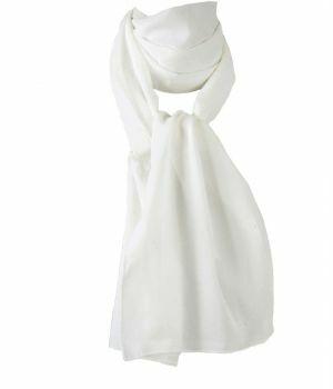 Licht ivoorkleurige crêpe sjaal
