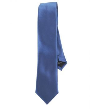 Jeansblauwe zijde-blend stropdas