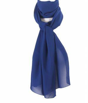Jeansblauwe voile crêpe sjaal