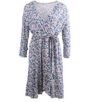 Lichtblauw jurkje met floral print
