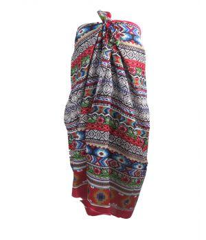 Kleurrijke sarong met aztec print