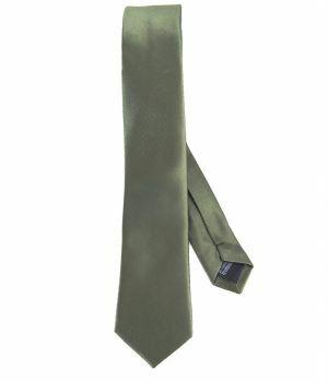 Legergroene zijde-blend stropdas