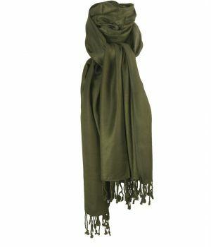 Legergroene pashmina sjaal