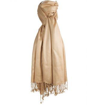 Beige pashmina sjaal