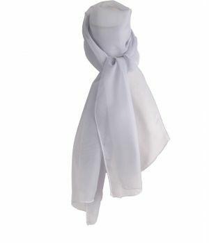 Effen blauw-lichtgrijze voile sjaal