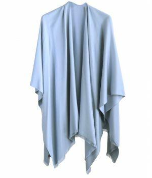 Effen omslagdoek in lichtblauw