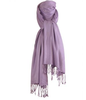 Lila pashmina sjaal