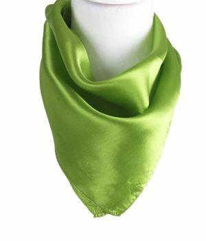 Limegroene satijn zijden sjaal