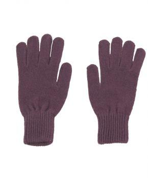 Fijngebreide handschoenen in mauve