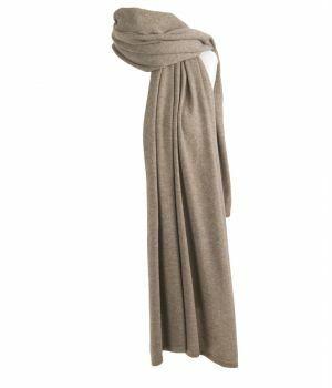 Kasjmier-blend sjaal/omslagdoek in taupe