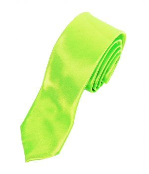 Neongroene trendy extra skinny stropdas