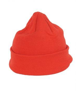 Effen oranje muts