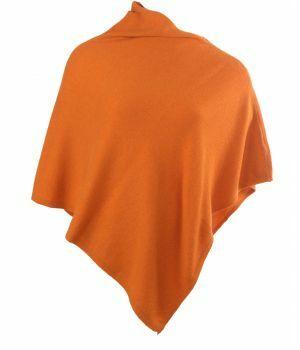 Oranje kasjmier-blend poncho