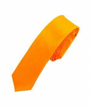 Fel oranje extra skinny stropdas
