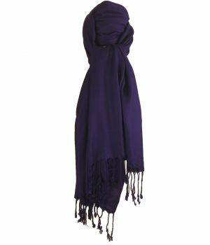 Paarse pashmina sjaal