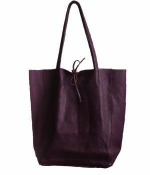 Lederen shopper in paars