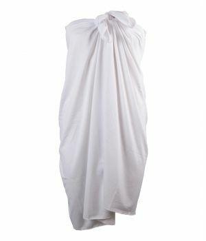 Effen rekbare witte sarong
