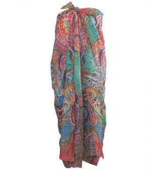 Sarong met ornament print in pastel-tinten