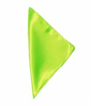 Limegroene vierkante satijnen pochet