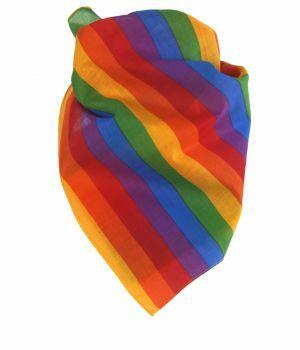 Bandana / boerenzakdoek met regenboog print