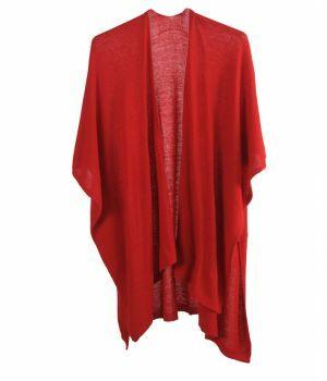 Kasjmier-blend omslagdoek in rood