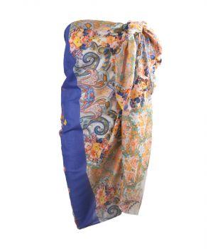 Sarong met paisley-bloemenprint