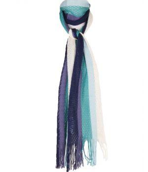 Gestreepte sjaal in blauw-paars