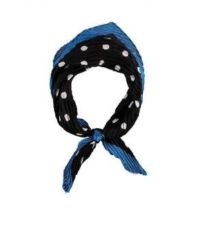 Vierkante plissé sjaal met polka dot