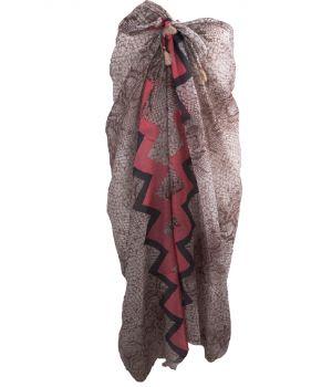 Bruine sarong met slangenprint