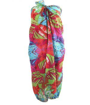 Kleurrijke sarong met tropische bloemenprint