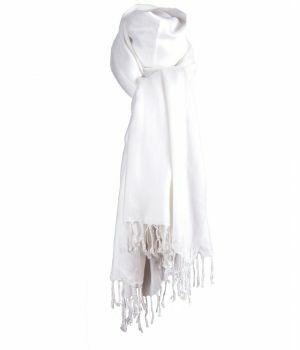 Witte pashmina sjaal