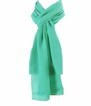 Effen mintgroene crêpe sjaal