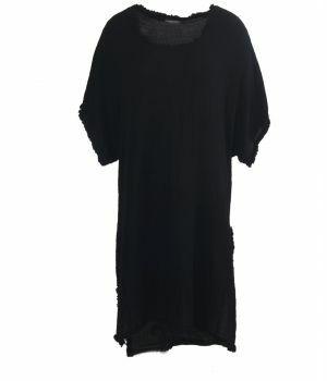 Lange katoenen tuniek in zwart
