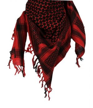 PLO sjaal / Arafat sjaal in zwart-rood