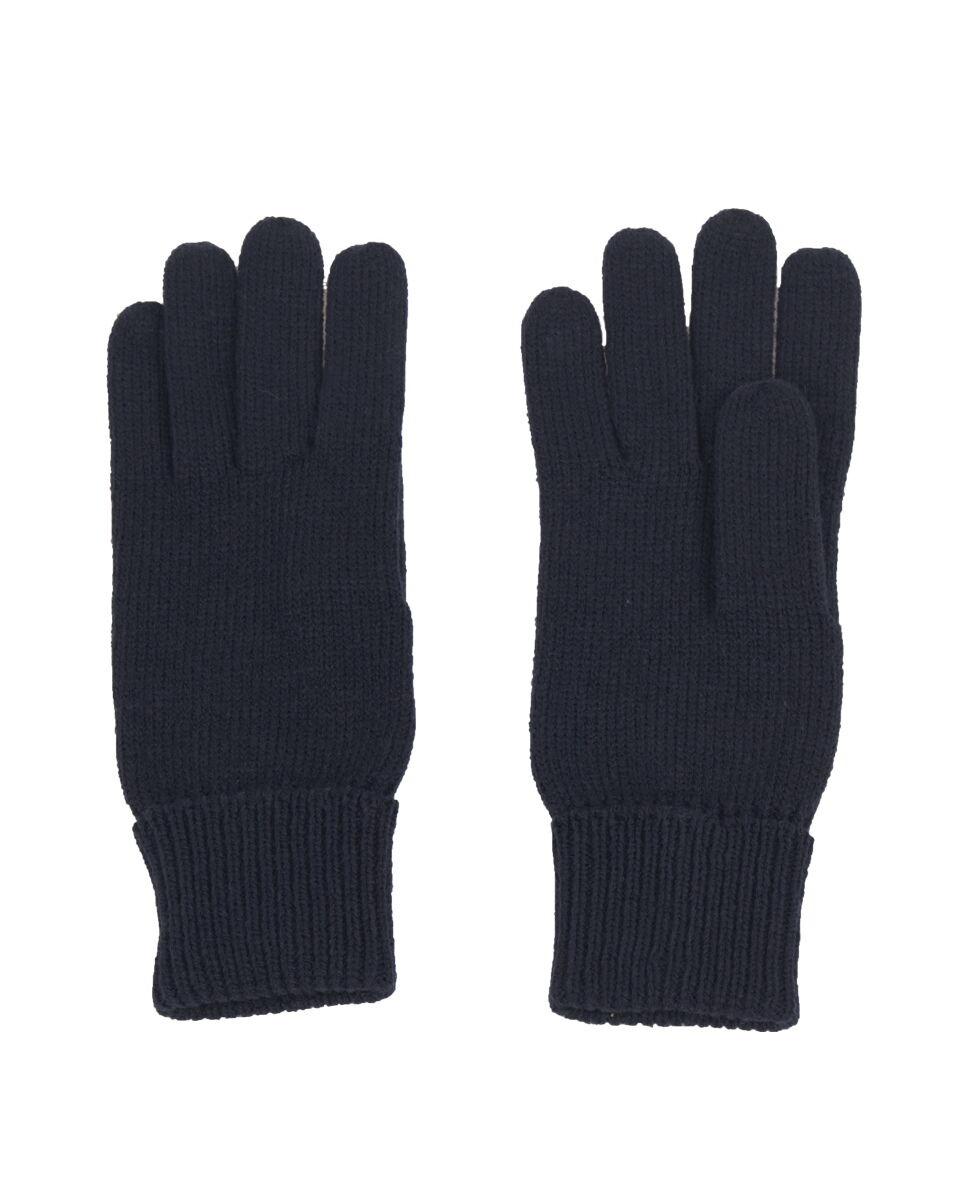 Fijngebreide handschoenen in marineblauw