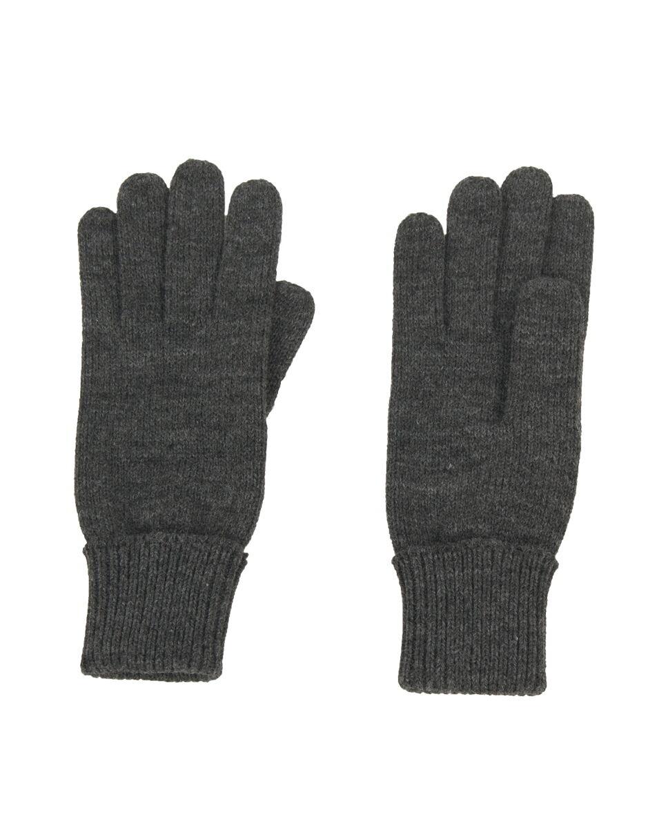 Fijngebreide handschoenen in donkergrijs