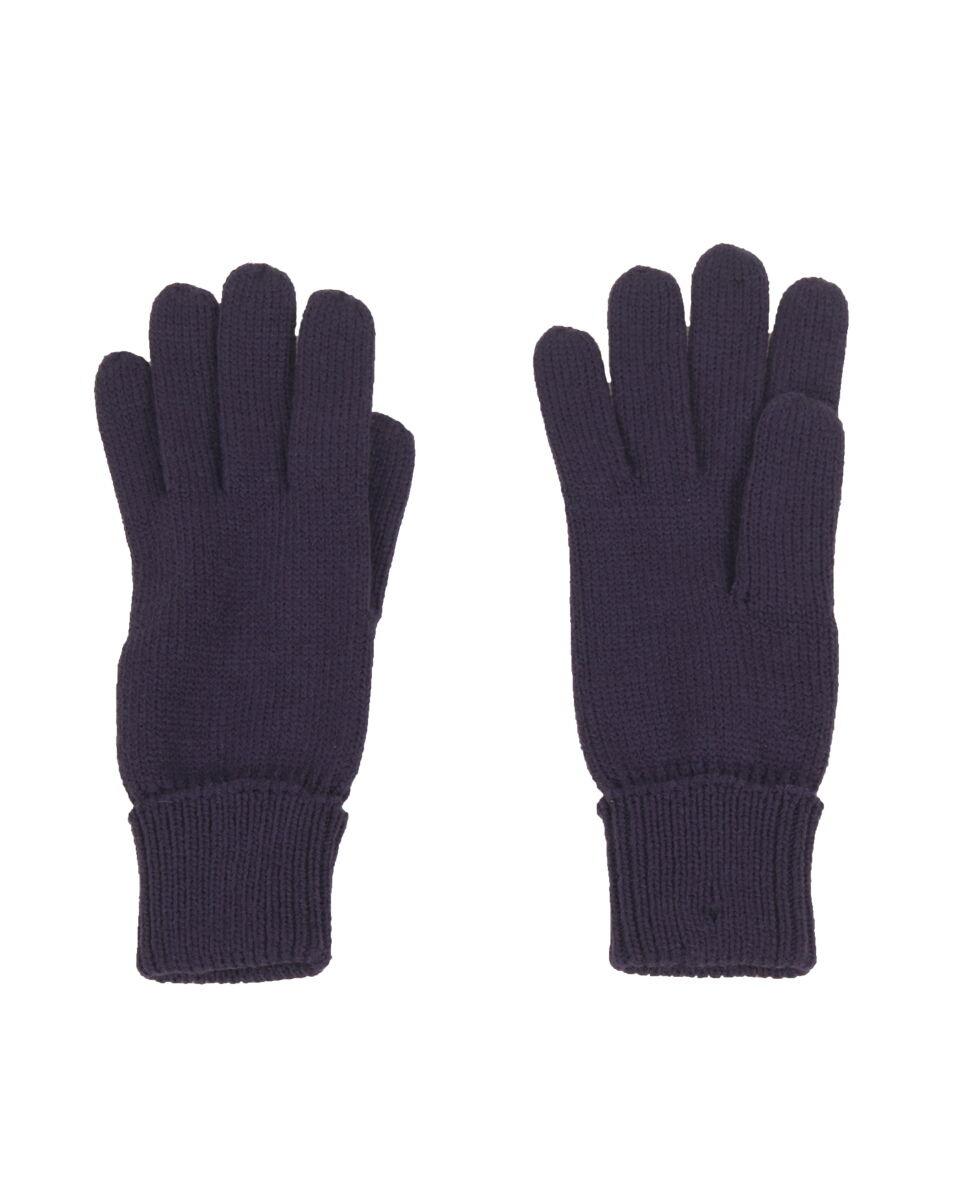 Fijngebreide handschoenen in donkerpaars