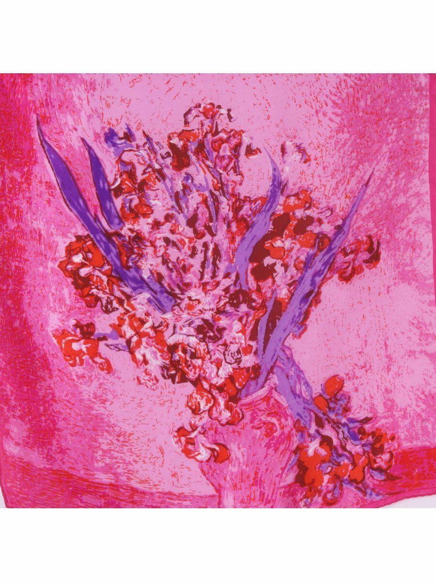 Fuchsia paarse zijden satijnen halsdoek