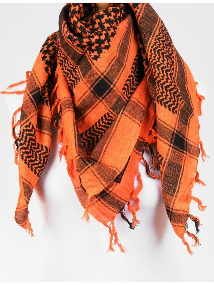 Arafat shawl oranje/zwart