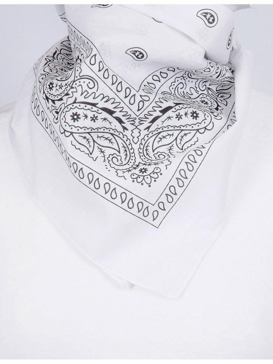 Witte boerenzakdoek-bandana